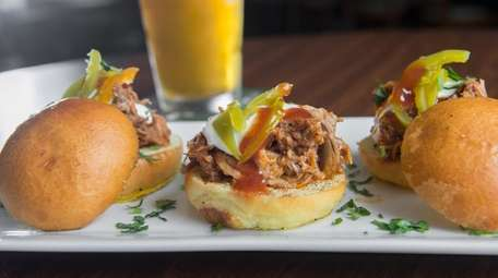 Pork sliders, as served at The Springs Tavern
