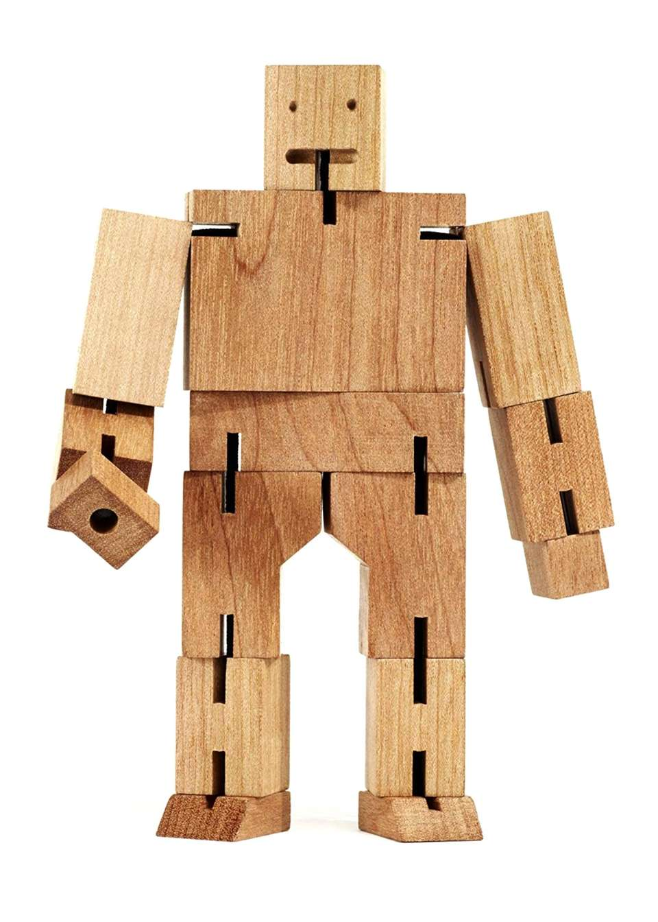 Crafted from harvested cherrywood, this figure can be