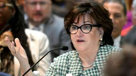 State Education Commissioner MaryEllen Elia speaks during a