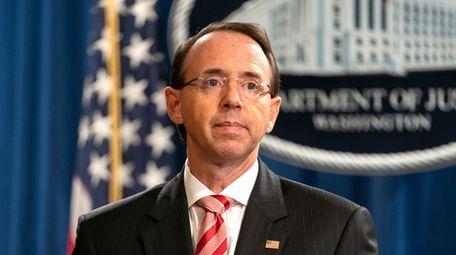 Rod Rosenstein, the deputy U.S. attorney general who