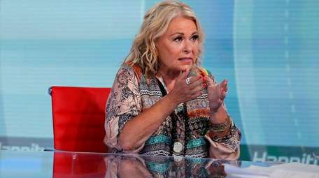 Roseanne Barr talks with Fox News' Sean Hannity