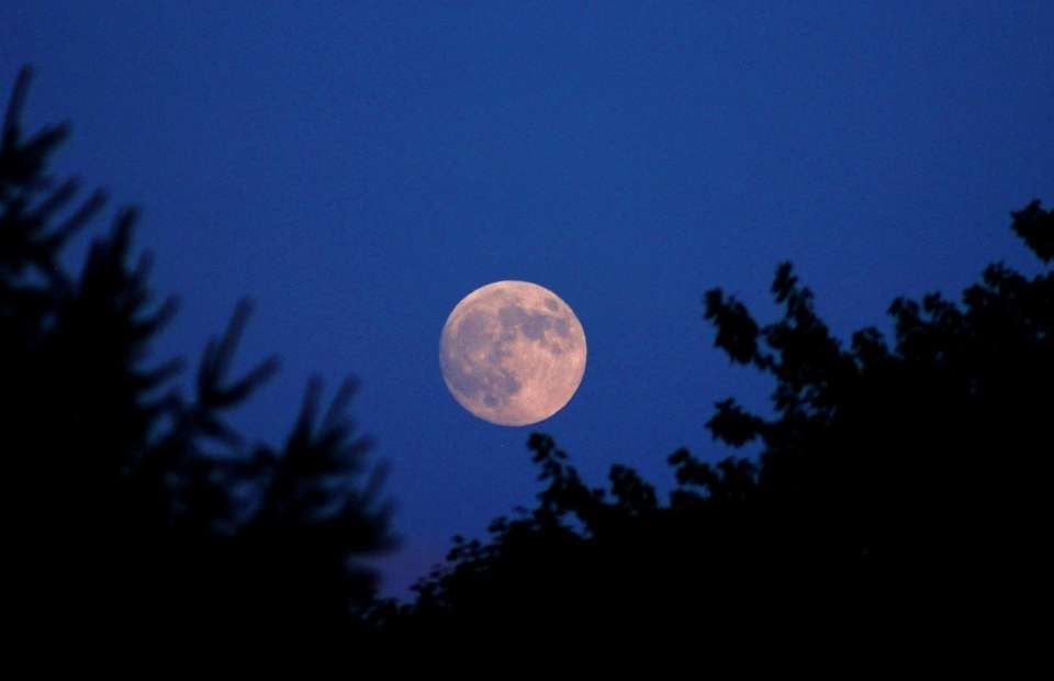 Full moon over Massapequa Park on July 26th.