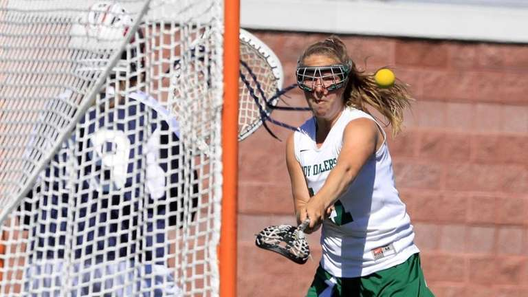 On target with a goal is Farmingdale's Jamie