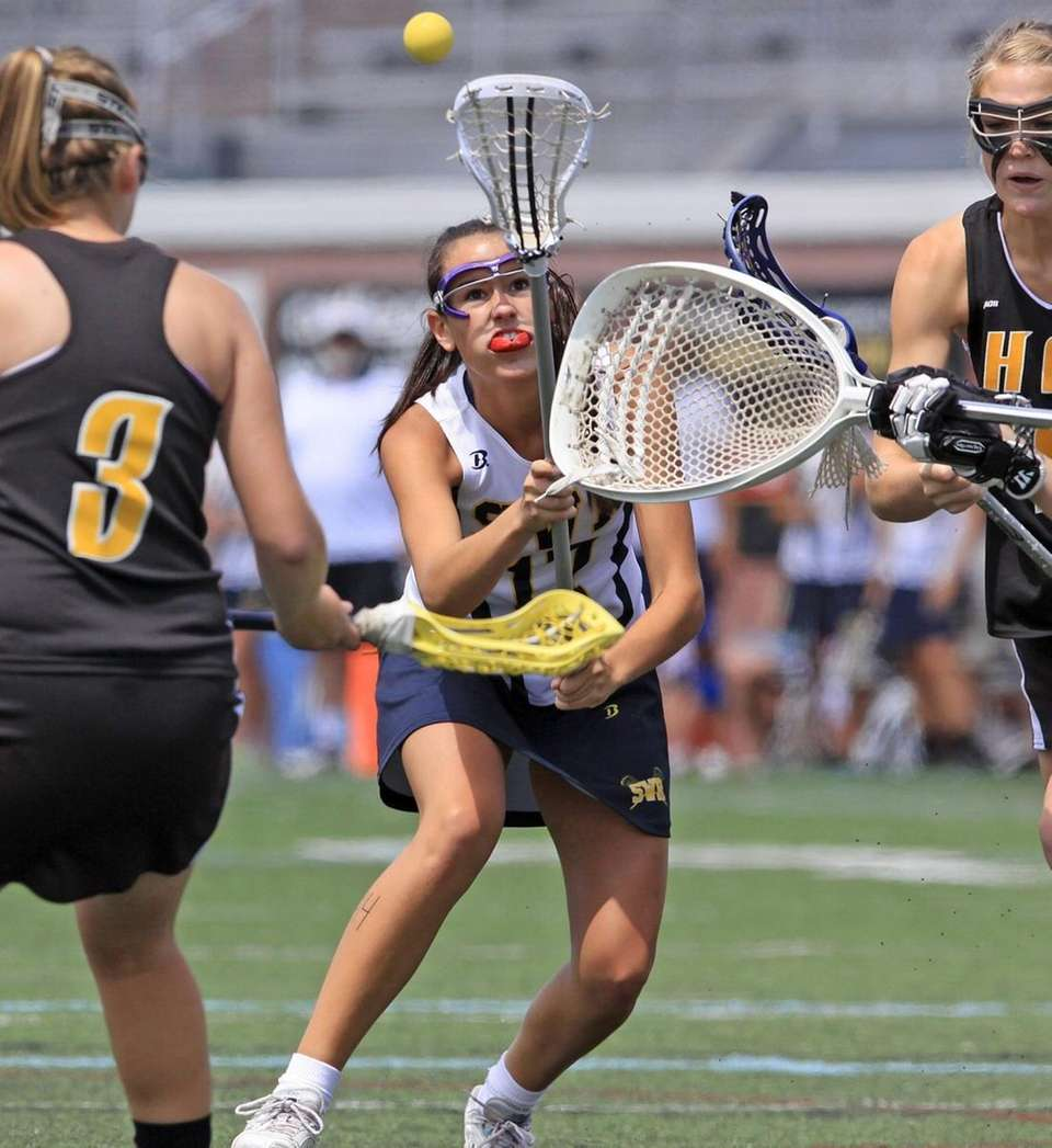 Shoreham-Wading River's Ali Davis finds herself surrounded by