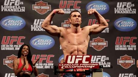 UFC fighter Rich Franklin weighed in at 205