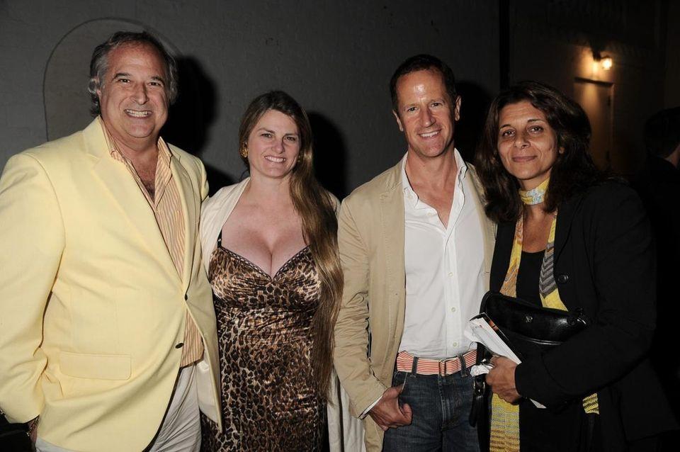 Stewart Lane, Bonnie Comley, guest, Angela LaGreca