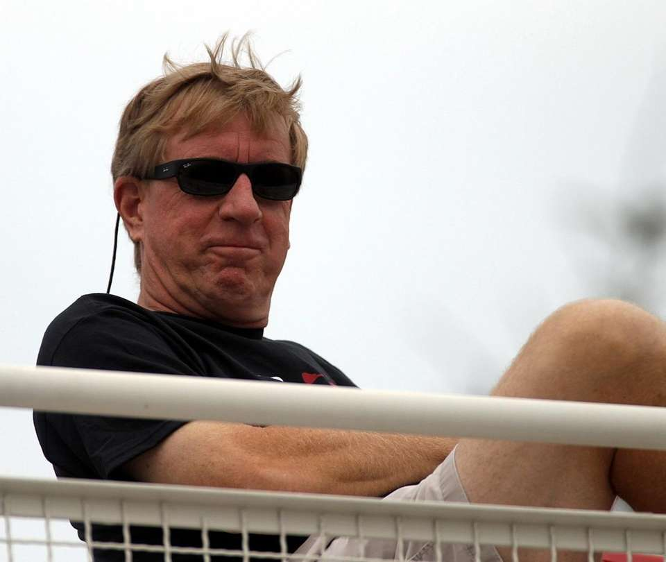 Duke head coach John Danowski watches a game