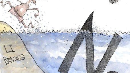 Matt Davies cartoon on nitrogen pollution.