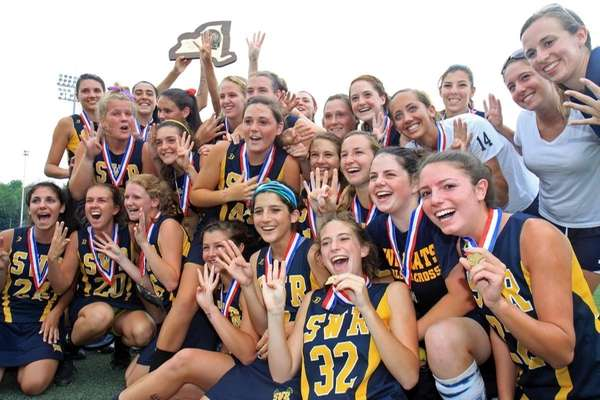 Shoreham-Wading River celebrates their big victory. (June 12,