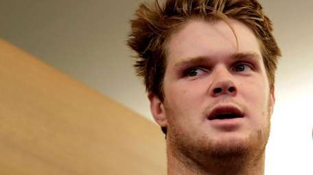 Jets quarterback Sam Darnold, who was selected third