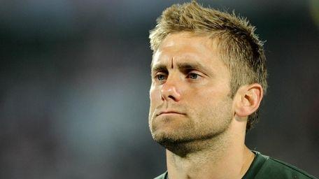 Robert Green of England looks dejected as he