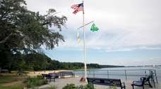 Renovations at Beekman Beach in Oyster Bay, seen