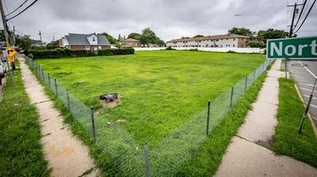 Nassau County bought this vacant lot, seen July