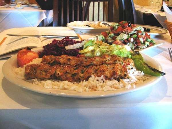 Chicken Adana kebab at Mediterranean Kebab House in