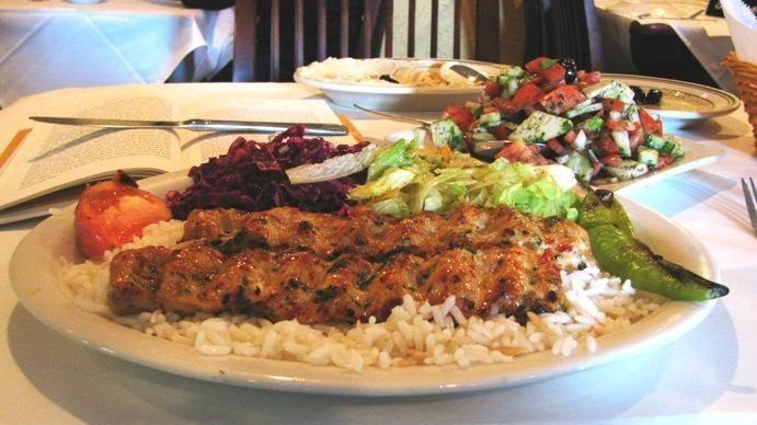 Chicken Adana kebab at Mediterranean Kebab House in