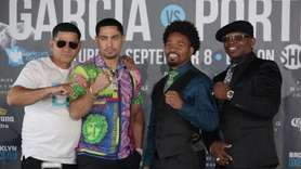 Former world champions Danny Garcia and Shawn Porter held a press