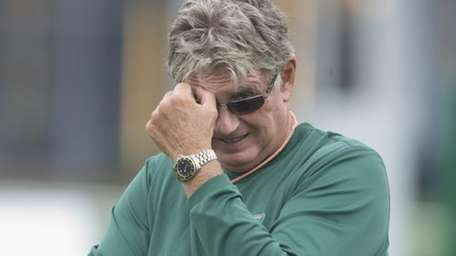 Special teams coach Mike Westhoff during a Jets