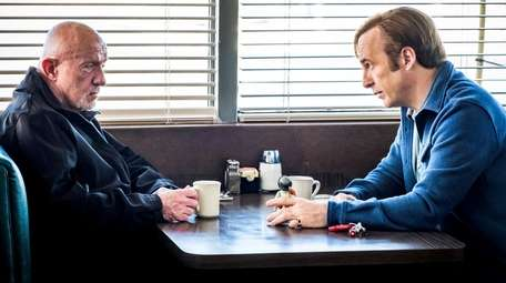 Jonathan Banks and Bob Odenkirk, right, star in