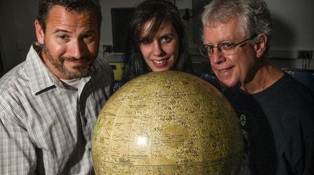 Stony Brook University scientists, from left, Joel Hurowitz,