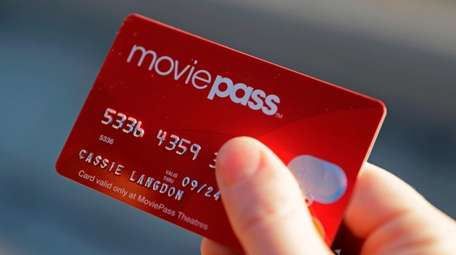A MoviePass card, seen on Jan. 30.