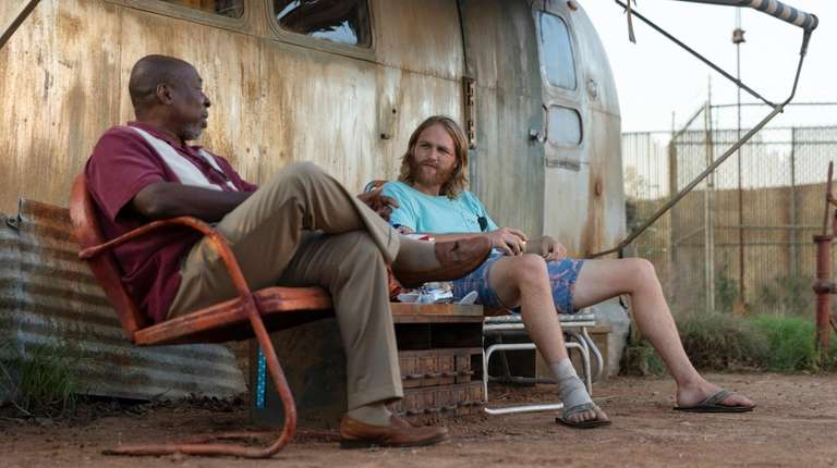 "Brent Jennings and Wyatt Russell in ""Lodge 49."""