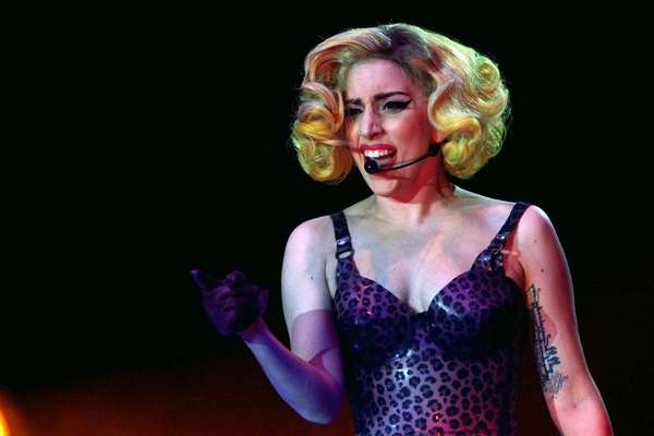 Lady Gaga performs during her Monster of Ball