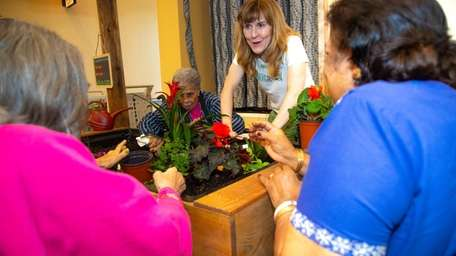 Eldergrow founder Orla Concannon leads indoor gardening at