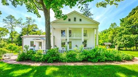 This antebellum Greek Revival home in Miller Place