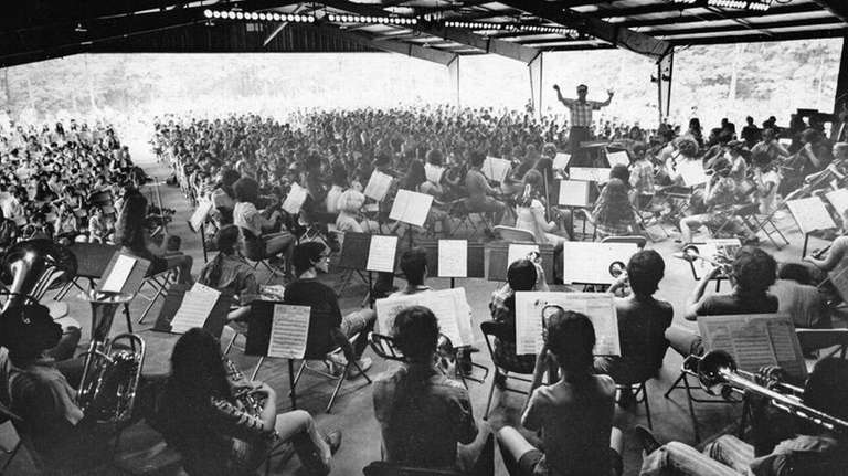 James Sample conducts Orchestra IV in 1970 at
