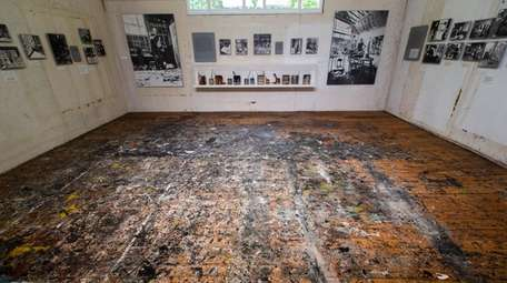 The studio of artist Jackson Pollock at the