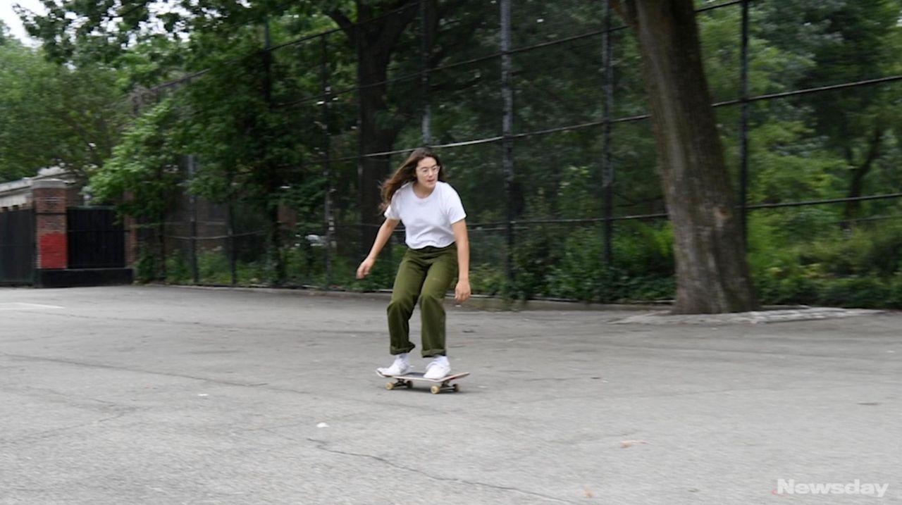 """Rachelle Vinberg, who stars in """"Skate Kitchen,"""" a"""