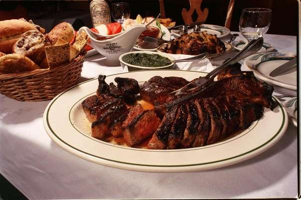 Porterhouse steak for two, as served at Peter