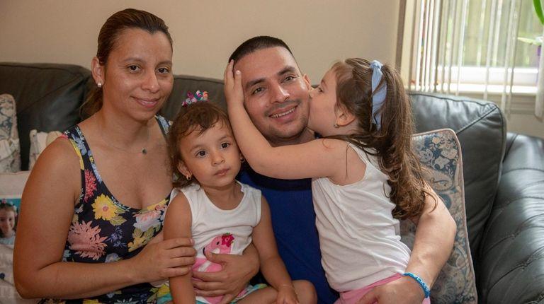 Pablo Villavicencio at his Hempstead home with his
