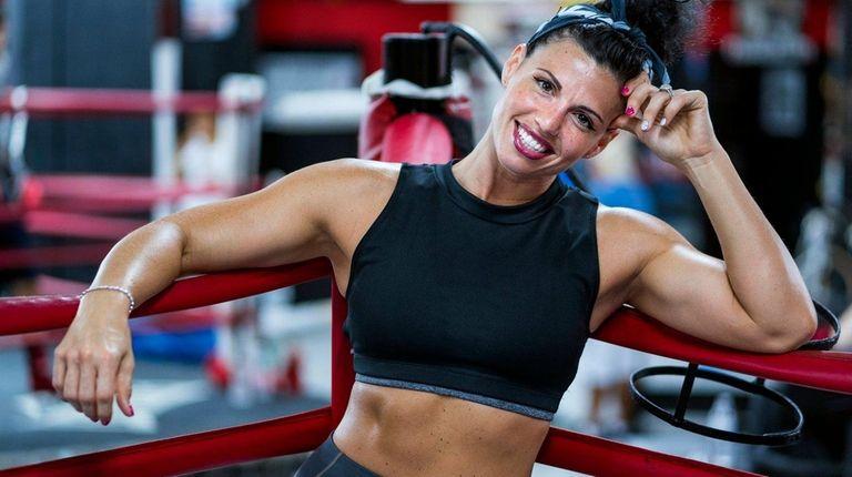 Lindenhurst's Alicia Napoleon poses at Gleason's Gym in