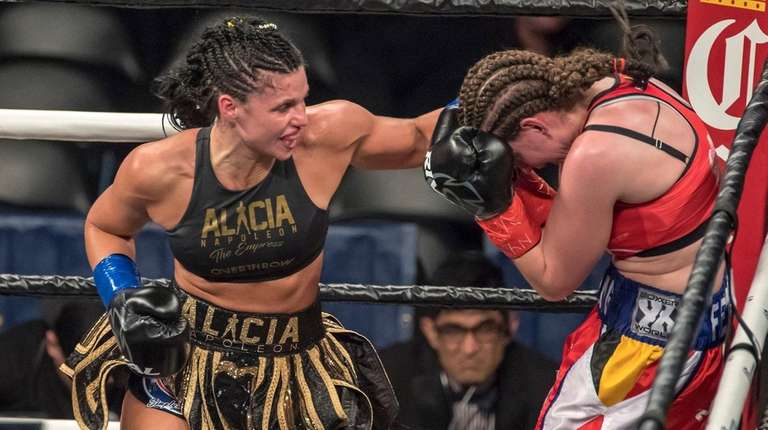 Alicia Napoleon lands a punch in the