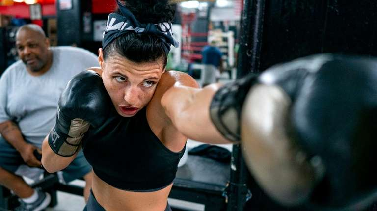 Alicia Napoleon works out at Gleason's Gym in