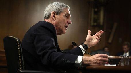 Robert Mueller testifies during a hearing before the