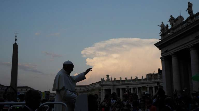 Pope Francis at St. Peter's Square at the
