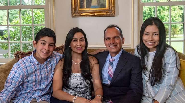Dr. Harold Fernandez with his family, from left,