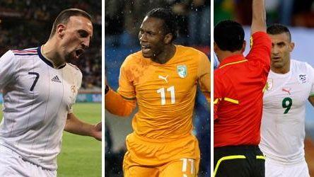 From left, France's Franck Ribery, Ivory Coast striker