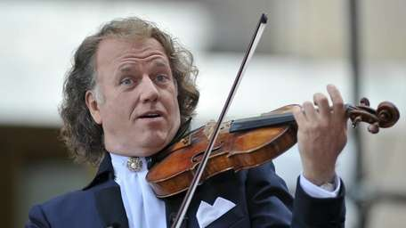 Dutch violinist Andre Rieu performs on NBC's