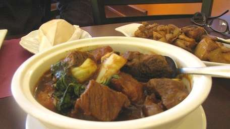 Beef pochero, a sweet-savory stew of beef with