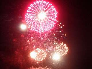The July Fourth fireworks show is held at
