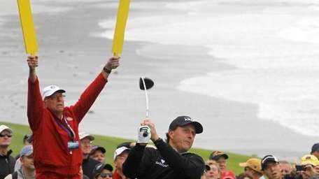 Phil Mickelson at Pebble Beach.