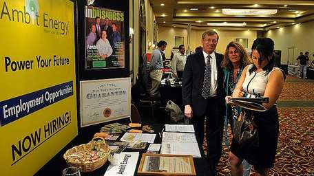 Job fair attendees in April at the Marriott