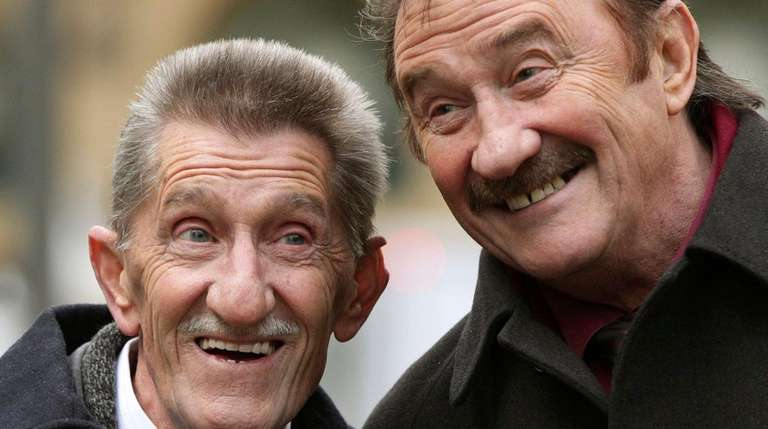 The Chuckle Brothers, Barry, left, and Paul Elliott