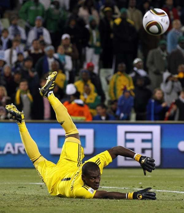 Nigeria goalkeeper Vincent Enyeama watches the ball during