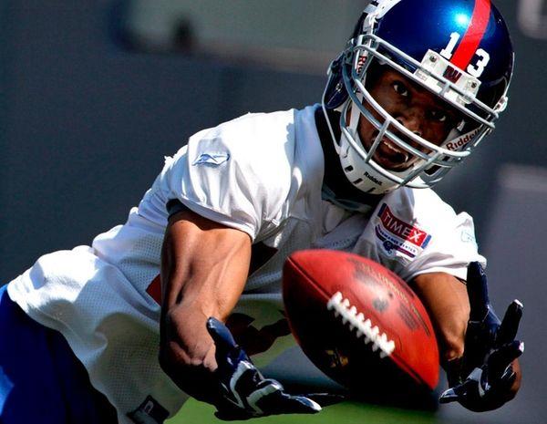 Giants wide receiver Ramses Barden. (June 15, 2010)