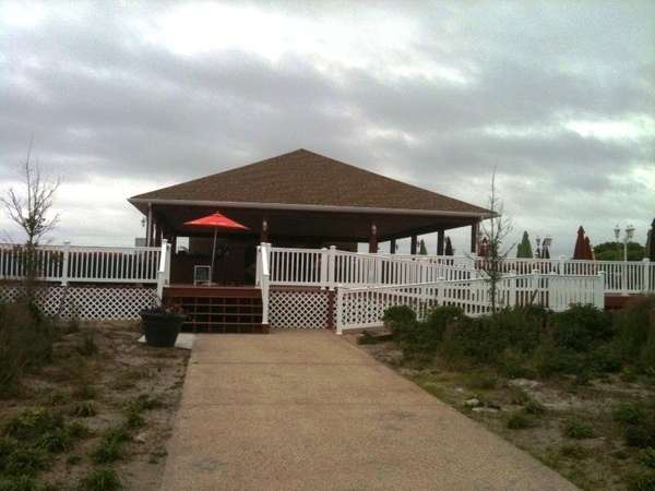 Dining deck and pavilion of Singleton's Salsa Shack