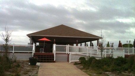 Dining deck and pavilion of Singleton's Salsa Shack